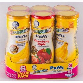 Bộ 2 hộp bánh ăn dặm gerber graduates puffs hương trái cây