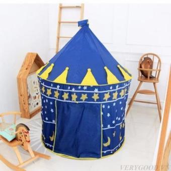 Lều bóng lâu đài cho bé yêu (màu xanh)