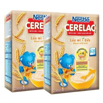 Bộ 2 hộp Bột Ăn Dặm Nestle - Lúa Mì Và Sữa 200g