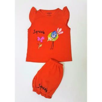 Bộ quần áo bé gái cực xinh (màu cam)