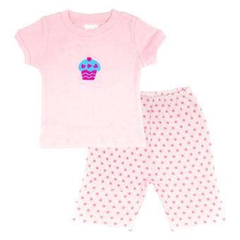 Bộ pyjama bé gái Lullabybaby (Hồng)