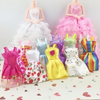 set 5 váy ngắn đơn giản cho búp bê