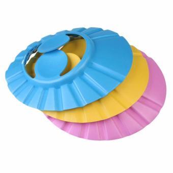 Bộ 3 mũ tắm chắn nước cài cúc cho bé có màng che tai vrg1141 - CB3