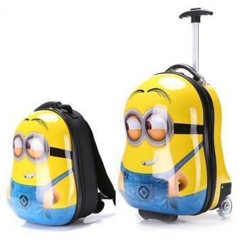 Bộ vali kéo và ba lô hình Minions Cuties