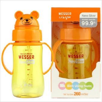Bình uống nước có ống hút Wesser 260ml
