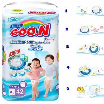 Tã quần Goon XL42 12 -17 kg (Trung tính XL)