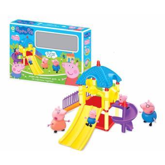 Bộ đồ chơi gia đình heo chơi cầu trượt Peppa pig ZY-551