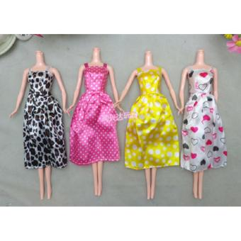 set 2 váy dài đơn giản cho búp bê