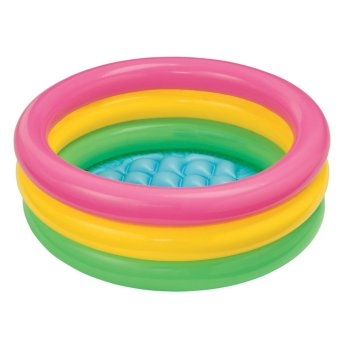 Bể bơi phao gia đình cầu vồng + Tặng kèm bơm điện BV 57422