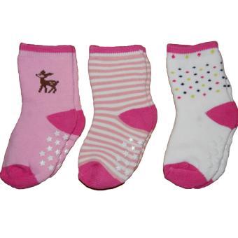 Bộ 3 đôi tất chống trơn mỏng bé gái