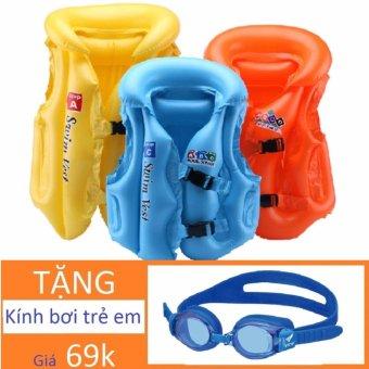 Áo phao bơi đỡ cổ Tặng Kính bơi (trẻ từ 12 - 25kg)