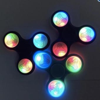 Đồ Chơi Con Quay Giúp Giảm Stress Fidget Spinner Đèn Led 7 Màu