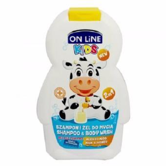 Sữa Tắm Gội 2in1 On Line Kids Hương Sữa - 250ml (Trắng)