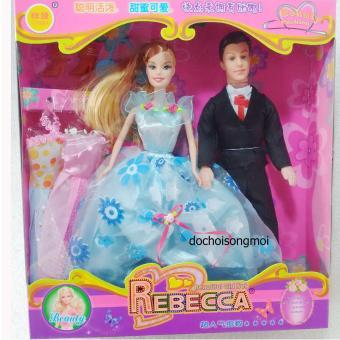 Hộp đồ chơi búp bê Baby cô dâu chú rể Rebecca