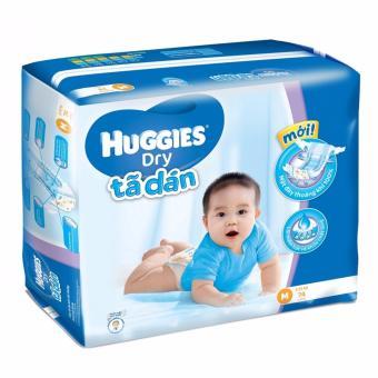 Tã dán Huggies Dry Super Jumbo M74 (dành cho trẻ từ 5 đến 10kg)