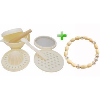 Bộ nghiền thức ăn cho trẻ 4 tác dụng Ngọc Tuyết +Tặng vòng dầu tằm bé trai