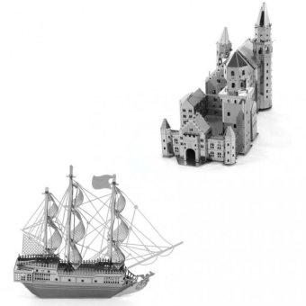 Bộ 2 xếp hình 3D NEW SWAN STONE CASTLE và Tàu