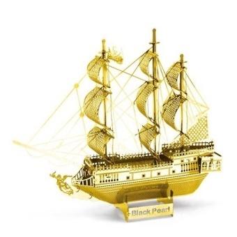 Hình ảnh KAIXIN 632G Laser Etching Steel Model 3D JIGSAW PUZZLE Gold - intl