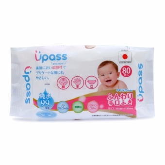 KM Mua 4 tặng 1 Khăn ướt em bé cho tay và miệng Upass 80 tờ
