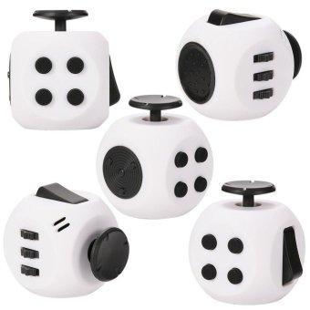 Magic Cube Express Round Fidget Cube Toy&Black - intl