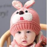 Hình ảnh Mau Non Len Dep Cho Be Gai - Set khăn mũ 2 lớp cho em bé, được làm bằng chất liệu len tổng hợp, bên trong được lót bông mềm tạo cảm giác mềm mại, an toàn cho bé. Mũ và khăn được thêu hình thú ngộ nghĩnh đáng yêu.
