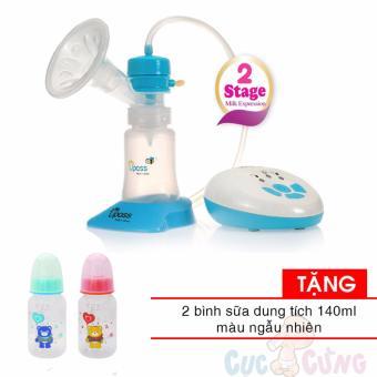 Máy hút sữa điện 2 giai đoạn có mát xa silicone UPASS UP1642 TẶNG 2 bình sữa 140ml bằng nhựa VN