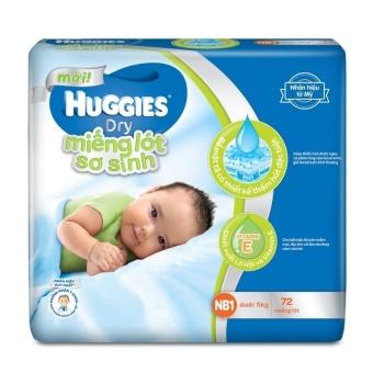 Miếng lót sơ sinh Huggies Newborn 1 NB72 (0 - 5kg) 72 miếng