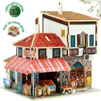 Đặt mua Mô hình nhà gỗ DIY – 3D Jigsaw Puzzle Wooden Toys HPM6142