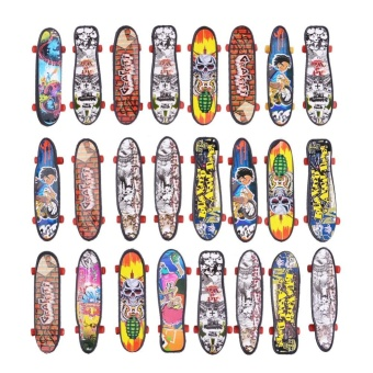MOON STORE 24PCS Mini Finger Skateboard Collection Kids Toy Children Gift - intl