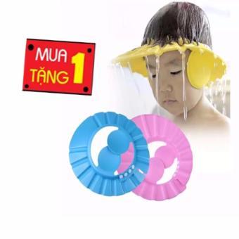 Mũ gội đầu chống nước vào tai và mắt cho bé (vàng2)