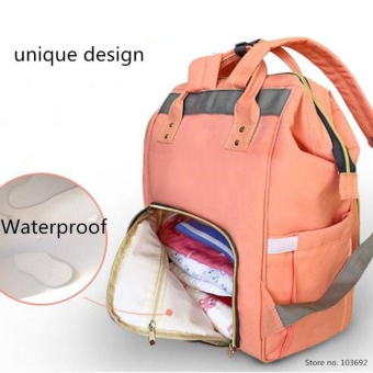 Multi-functional Travel Large Capacity mummy Backpack Tangerine Pink - intl