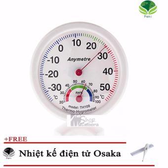 Nhiệt ẩm kế Anymetre treo phòng + Tặng Nhiệt kế điện tử Osaka Japan