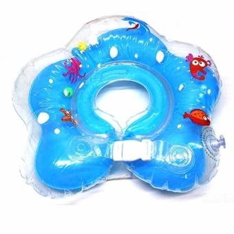 Phao bơi tắm đỡ cổ cho bé màu xanh dương