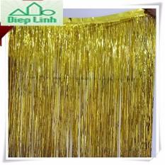Giá Rèm kim tuyến trang trí màu vàng và màu bạc 1m x 3m- Diệp Linh  DiepLinh
