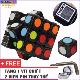 Rubik 3x3 TIMING Có Đồng Hồ Đo Tốc Độ - CHIRITA 2142