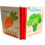 Sách Gỗ Ghép Hình 6 trang cho bé (Chủ đề: Rau củ). Bộ đồ chơi lắp ráp thông minh cho trẻ phát triển các kỹ năng.