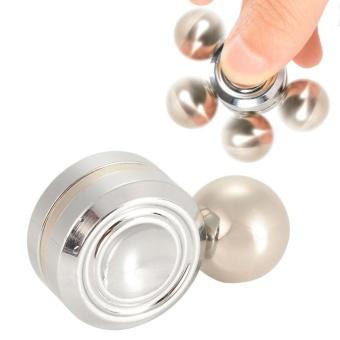 Silver Spinner Tri-Fidget Toy Hands Fidget Spinner Stress ReducerToy - intl