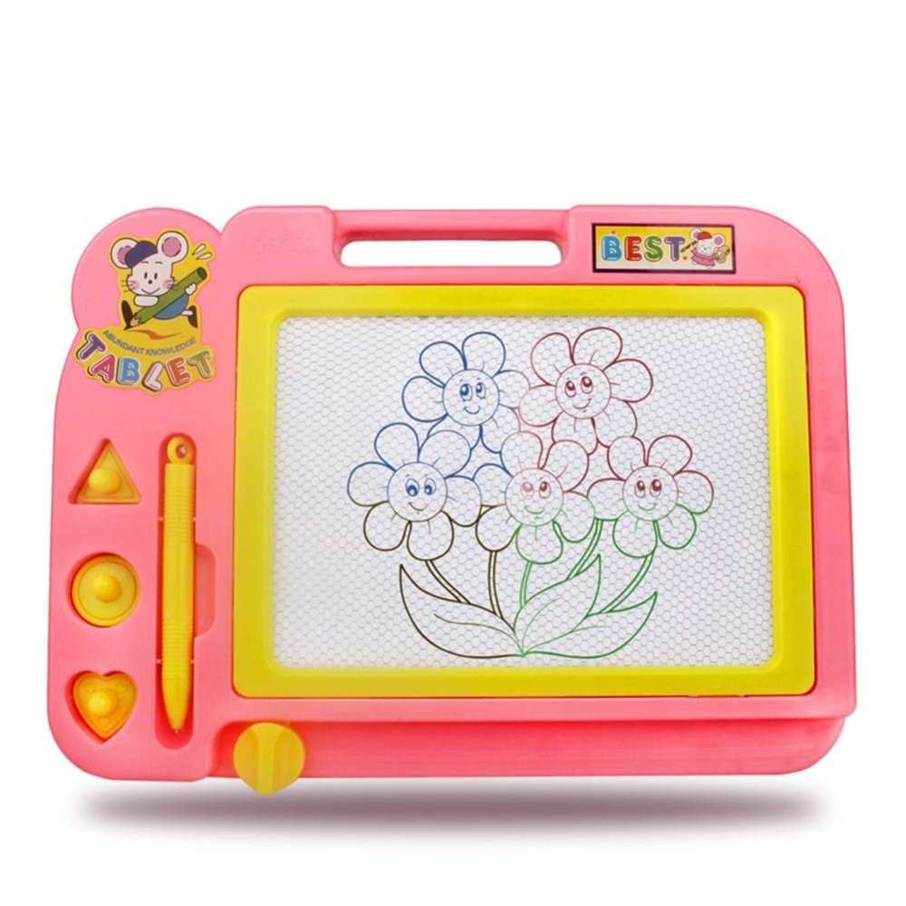 Sketch Pad Magnetic Drawing Writing Board Random Color - intl .