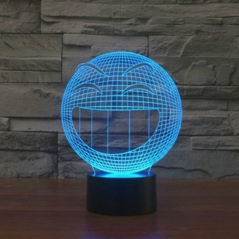 Smile 3D visual LED lights lamp colorful touch - intl