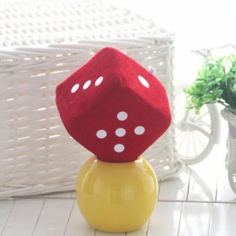 Soft Dice Plush Toy Kids Activity Games Props Creative Party ToyRed 4cm - intl