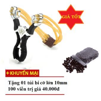 Súng cao su Ná thun 3 dây Siêu mạnh Tặng 100 viên bi trị giá 40k
