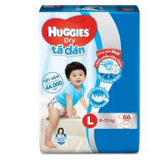 Tã dán  Huggies Dry Super Jumbo L68
