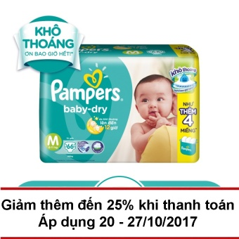 Tã dán Pampers Baby Dry size M 66 miếng