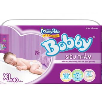 Tã dán siêu thấm Bobby Size XL40 (12 - 17 kg) - 10220415 , BO019TBAA2BK69VNAMZ-3977967 , 224_BO019TBAA2BK69VNAMZ-3977967 , 250000 , Ta-dan-sieu-tham-Bobby-Size-XL40-12-17-kg-224_BO019TBAA2BK69VNAMZ-3977967 , lazada.vn , Tã dán siêu thấm Bobby Size XL40 (12 - 17 kg)