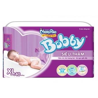 Tã dán siêu thấm Bobby Size XL40 - 10220329 , BO019TBAA1807RVNAMZ-1825280 , 224_BO019TBAA1807RVNAMZ-1825280 , 216000 , Ta-dan-sieu-tham-Bobby-Size-XL40-224_BO019TBAA1807RVNAMZ-1825280 , lazada.vn , Tã dán siêu thấm Bobby Size XL40