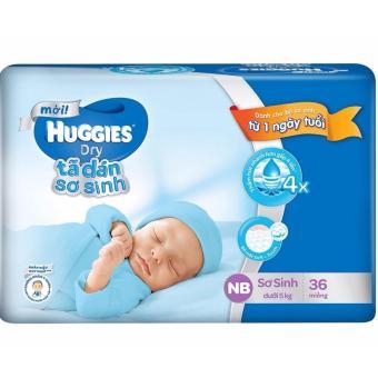 Tã dán sơ sinh Huggies NB36