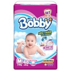 Tã Giấy Bobby Fresh Siêu Mỏng M48.