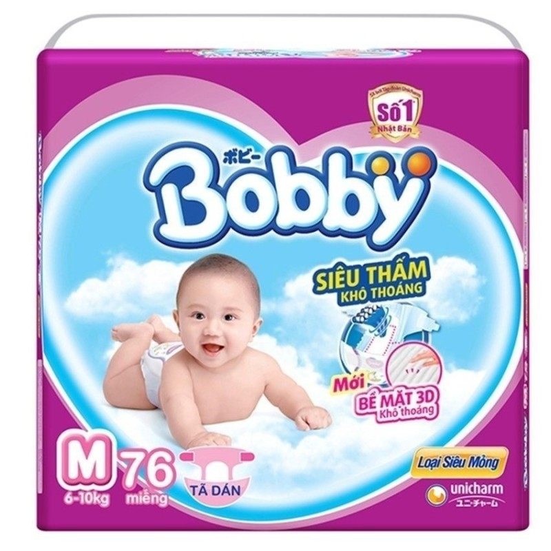Bảng giá Tã giấy Bobby siêu mỏng M76