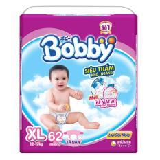 Tã giấy Bobby siêu mỏng XL62.