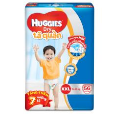 Tã quần Huggies Dry Pants XXL56 (Trên 16kg) + Tặng 7 miếng /gói